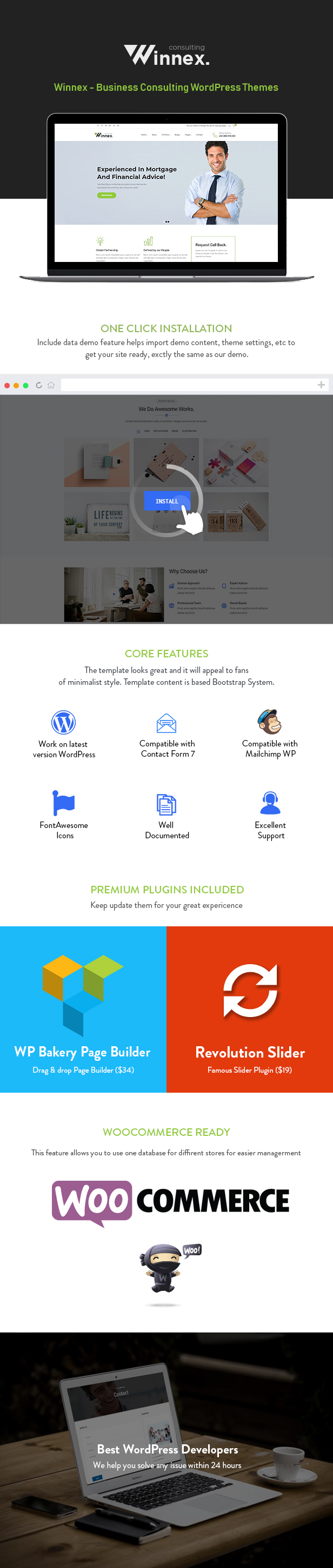 Winnex WordPress Theme