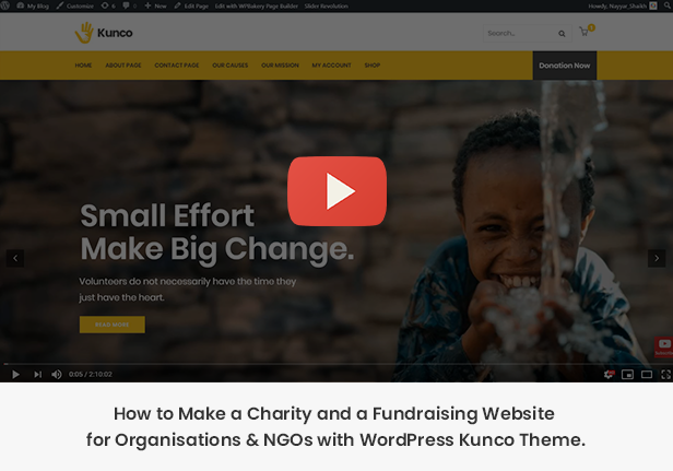 Kunco - Charity & Fundraising WordPress Theme - 1
